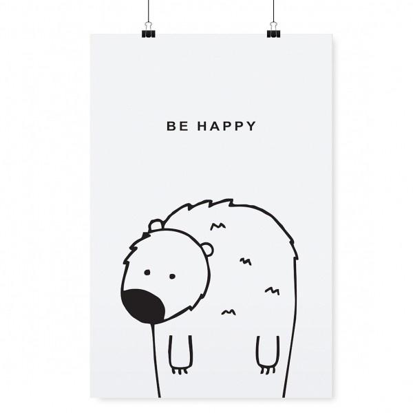 PLAKAT BE HAPPY TAFELGUT