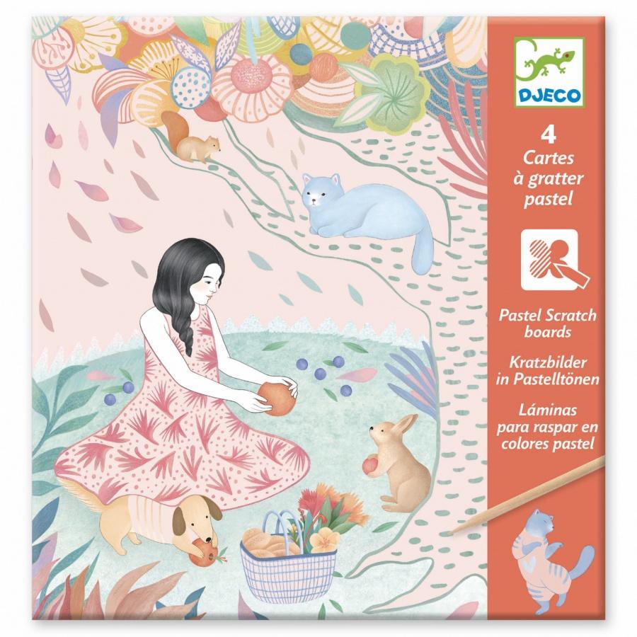Wydrapywanka PIKNIK (pastelowa) DJ09738 /DJECO